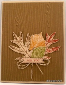 french foliage card idea
