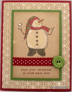 snow much fun handmade card