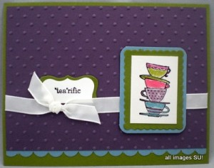 morning cup handmade card