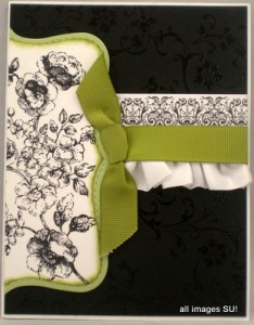 stampin up wedding card idea