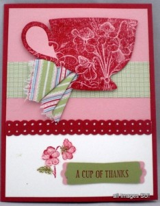 Tea Shop Thank You card
