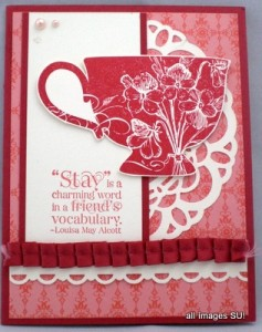 Tea Shoppe handmade card