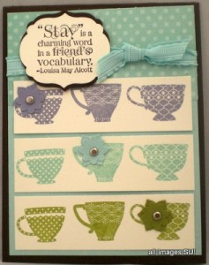 tea shoppe thank you card