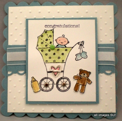 Stampin Up Baby Card Ideas with Baby Bundle & Two by Two