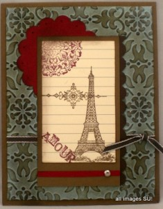 eiffel tower handmade card