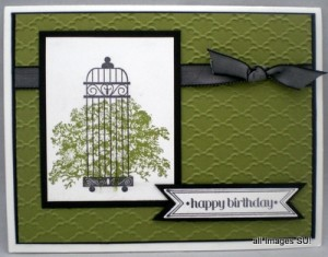 lovely as a tree stamp set with aviary