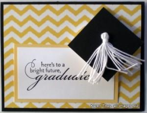 stampin up graduation card idea