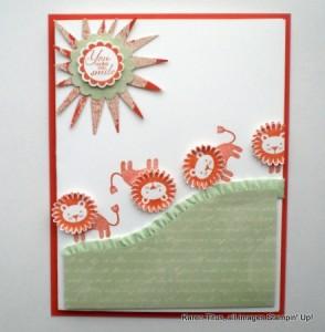 zoo babies handmade card