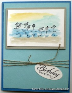 stampin up wetlands water colored