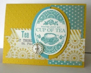 stampin up tea party set