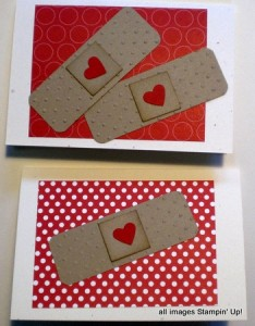 stampin up bandaid card
