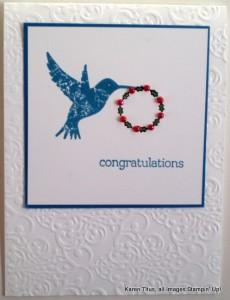 handmade december wedding card
