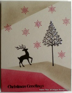 stampin' up christmas card