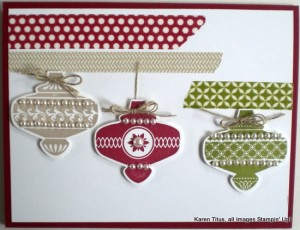 stampin up punched card
