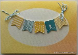 cute handmade card with banners