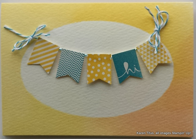 cute handmade card with banners