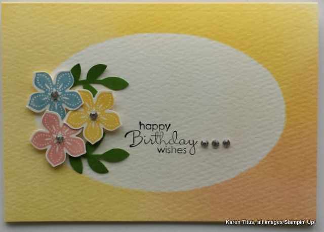 Use the Petite Petals stamp set and Punch for this pretty birthday card