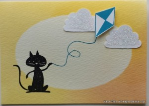 Cute card for kids with the Cool Kid stamp set