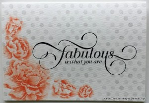 one in a million stamp set used for this quick thank you card