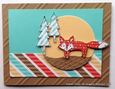 stampin up fox card