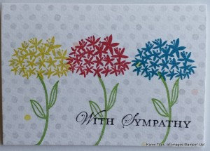 use simple stems for this sympathy card