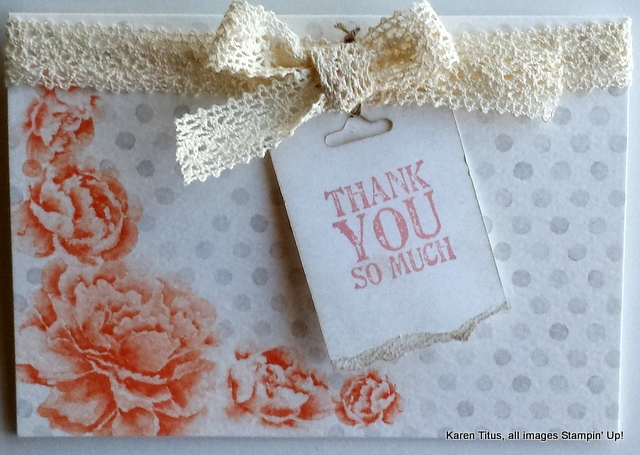 handmade vintage thank you card