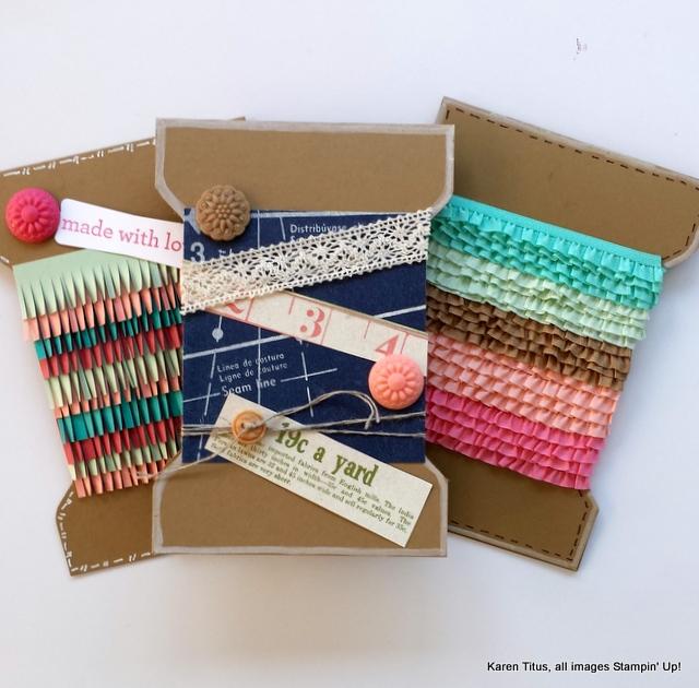 three handmade cards
