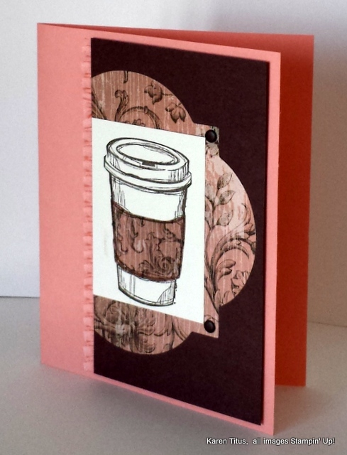 handmade coffee card