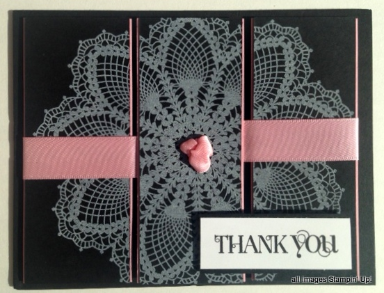 stampin up hello doily card