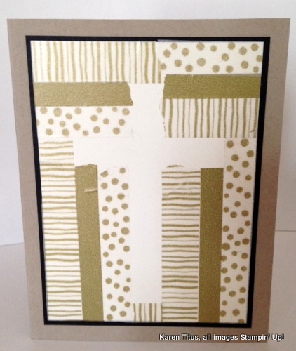 washi tape cross