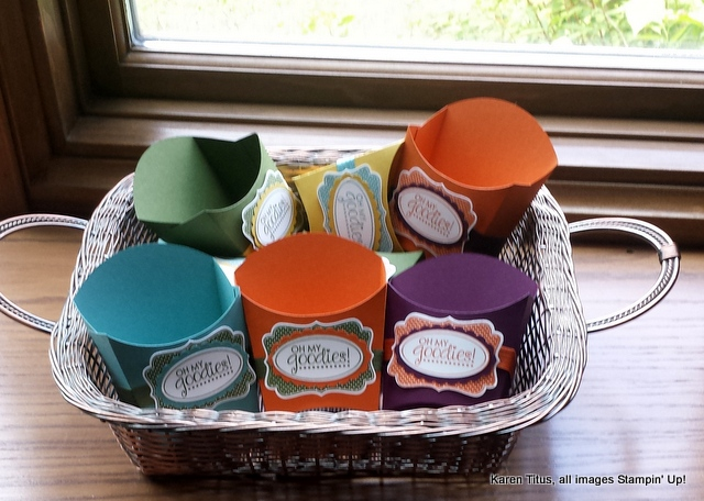french fry boxes stampin up