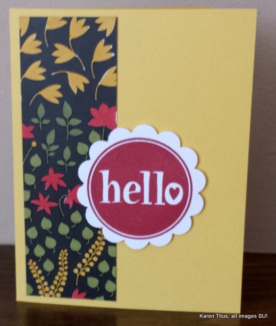 stampin technique on a card