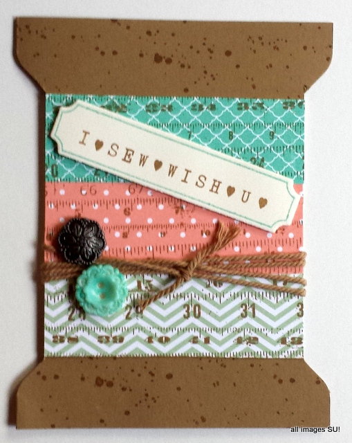 handmade spool card