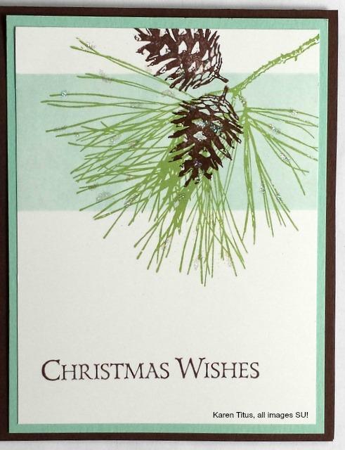 ornamental pine stamp set