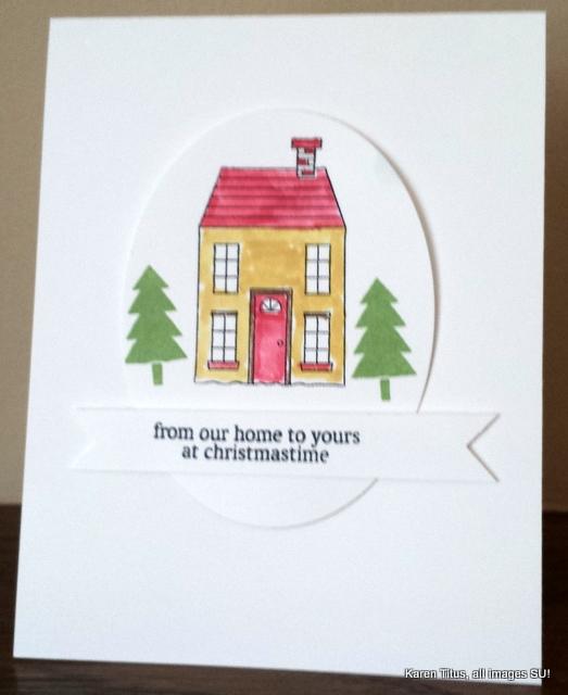 stampin up holiday card