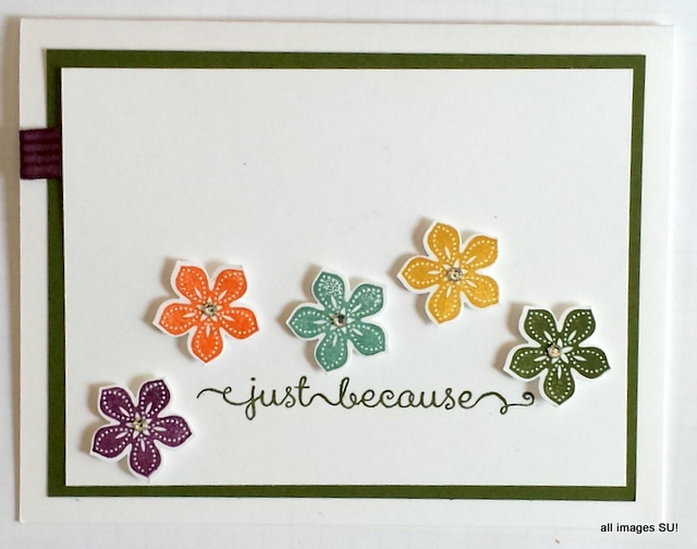 punch flowers handmade card