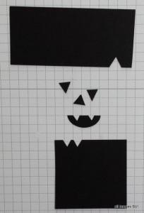 punch art pumpkin face