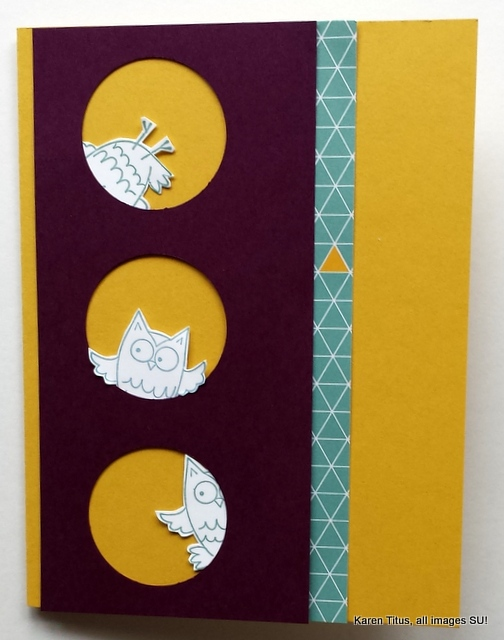 so very happy stamp set, fall owl card