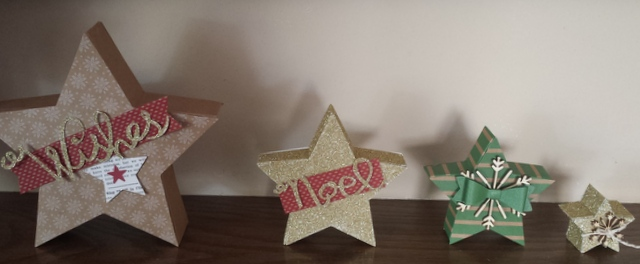 star boxes of many sizes
