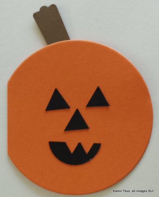 handmade pumpkin card