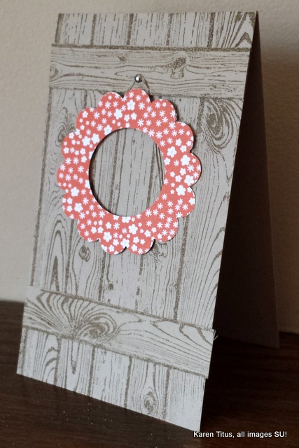 stampin up hardwood card