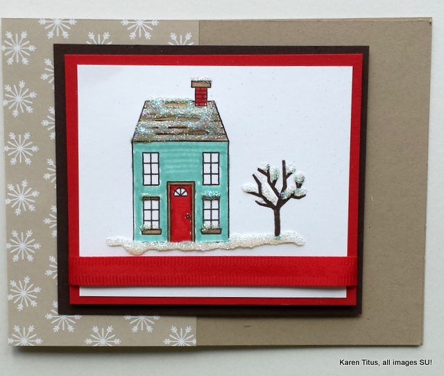 Holiday Home Winter card