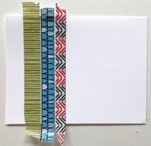 washi tape on a card