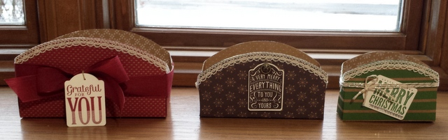 stampin up boxes
