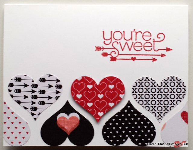 You Plus Me Valentine's card
