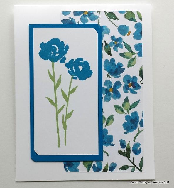 Painted Petals handmade card
