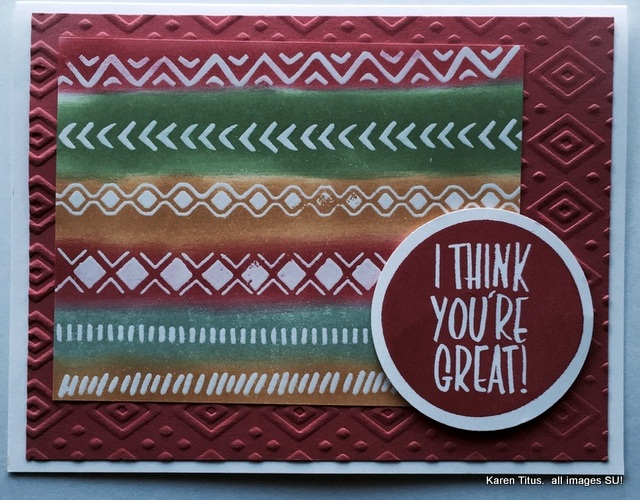 bohemian borders stampin up