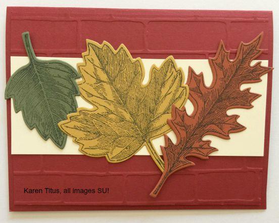 vintage leaves autumn card