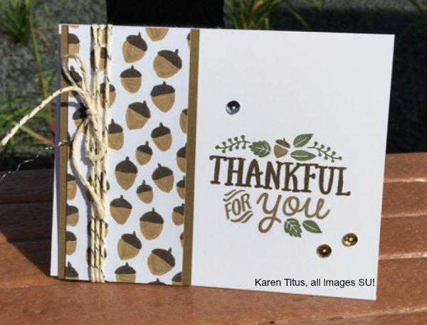 autumn card stampin up