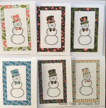 lots of snowman cards